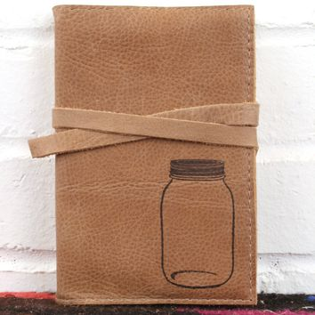 Mason Jar Leather Journal *Free Customization!*