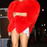 Heart Of A Queen Faux Fur Coat(Ready To Ship)