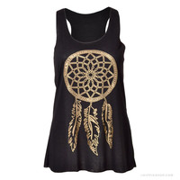 Golden Dream Catcher Tank Top
