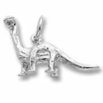 Dinosaur Charm In Sterling Silver