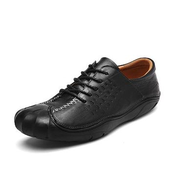 Height Increasing Handmade Moccasins Leather Shoes