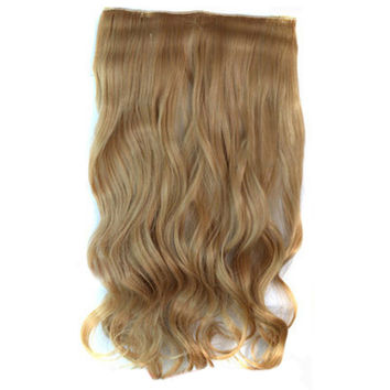 5 Cards Hair Extension Wig Long Curled Hair 5C-88M27#