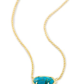 Elisa Gold Pendant Necklace in Turquoise Blue | Kendra Scott