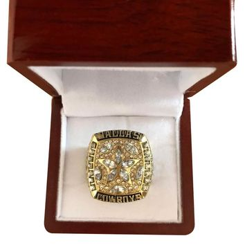 Drop shipping Fashion Sport Jewelry 1995 Dallas Cowboys Championship Ring Custom football ring Size 11