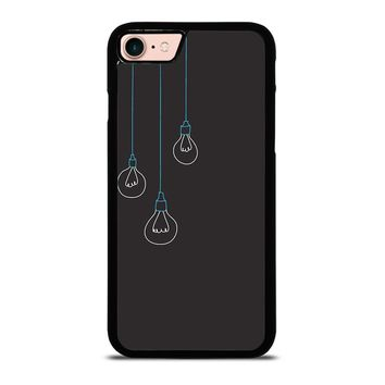 BLACK LIGHT BULBS MINIMALISTIC iPhone 8 Case