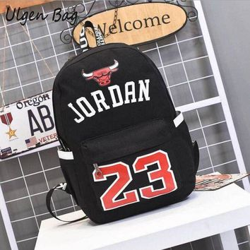 MDIGONB Hot Sale Jordan 23 Men Backpacks Fashion Star bags Canvas Schoolbags for Teenager Boys