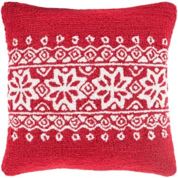 Holiday Winter Pillow ~ Red
