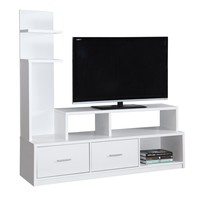 "Tv Stand - 60""L / White With A Display Tower"