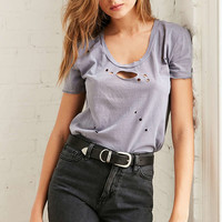 Truly Madly Deeply Doran Distressed Tee - Urban Outfitters