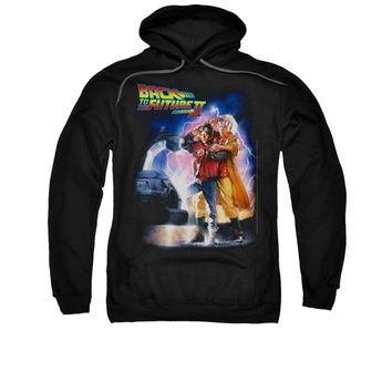 Back To The Future II Movie Poster Licensed Adult Pullover Hoodie