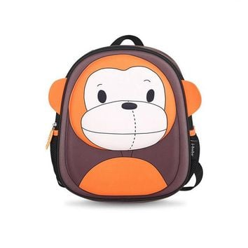 Toddler Backpack class i-baby 3D Animal Design Kids Backpack Waterproof Schools Baby Toddler Kindergarden Lunch Box Carry Bag, Ages 2+, Monkey,2 Colors AT_50_3