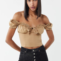 I.AM.GIA Naomi Off-The-Shoulder Corset Top | Urban Outfitters