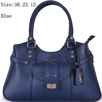 YSL women's stylish handbag shoulder bag shoulder bag F-MYJSY-BB Blue