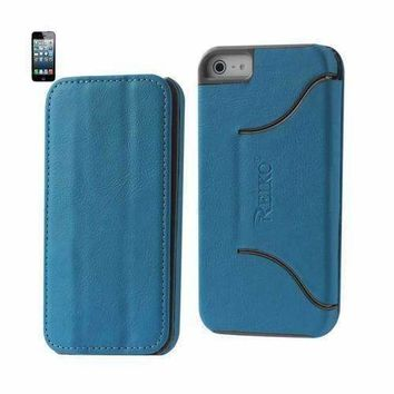 Reiko Fitting Case Iphone 5 Horse Skin Texture Blue