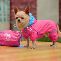 Small Pet Dog Hoody Jacket Rain Coat Waterproof