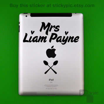 iPad - Mrs Liam Payne - One Direction - (Laptop Decal 1D Wall Sticker Decal PC Apple Macbook Mac Geekery)