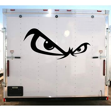 Fast Eyes Racing Fear This Decal Trailer  Vinyl Decal Custom Text Trailer Sticker