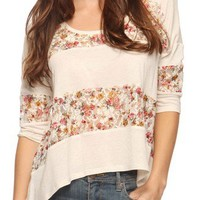 Lace Stripe Trapeze Top