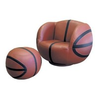 ORE International Basketball Swivel Chair and Ottoman:Amazon:Home & Kitchen