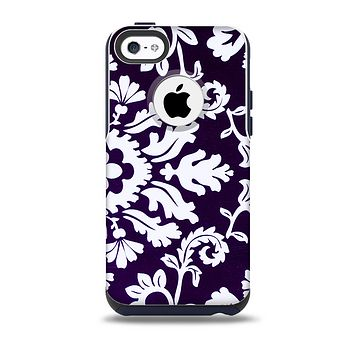 The Blue & White Delicate Pattern Skin for the iPhone 5c OtterBox Commuter Case