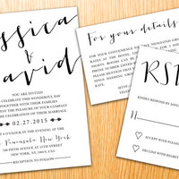 Personalized Instant Download Printable Wedding Invitation Suite Minimalist Classic Simple Modern Wedding Set Customize Wedding Invite Set