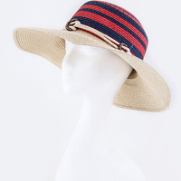 STRIPE FASHION STRAW HAT