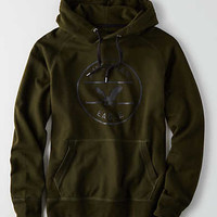 AEO Graphic Pullover Hoodie, Olive