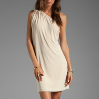 T-Bags LosAngeles One Shoulder Mini Dress in Cream from REVOLVEclothing.com