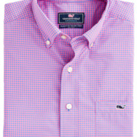 Vineyard Vines Ocean Echo Performance Classic Tucker Shirt- Bahama Breeze