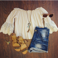Halle Lace Top - Ivory