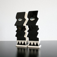 Postmodern Pair of Vases FREE SHIPPING US