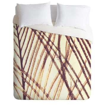 Shannon Clark Sheer Gold Duvet Cover