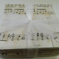 Sheet Music Tile Coasters by LoopyLoopCreations on Etsy