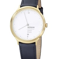 Helvetica No1 Light Watch White/Gold by Mondaine