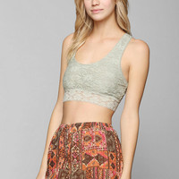 Pins And Needles Puckered Lace Racerback Bralette - Urban Outfitters