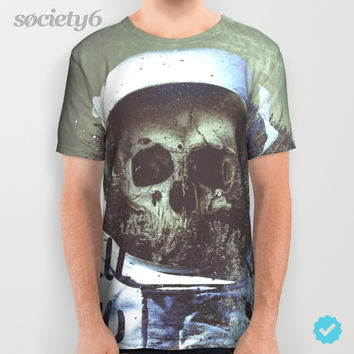 Dead Astronaut Space All Over Print Shirt by Lostanaw