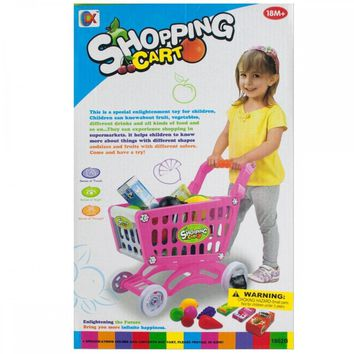 Toy Grocery Shopping Cart Set GH364
