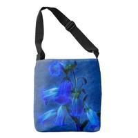 blue bell flowers on, body tote-bag crossbody bag
