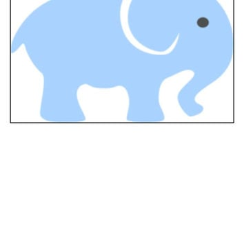 Instant Download, Elephant, Baby Room Decor, Cross Stitch, PDF Pattern, Cross Stitch Pattern, Blue Elephant