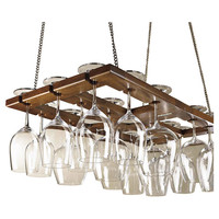 Wine Enthusiast Companies Hanging Wine Glass Rack