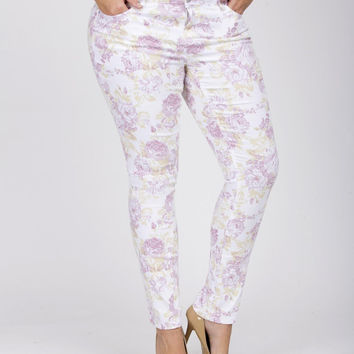 Junior Plus Floral Skinny