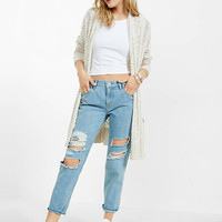 Distressed Girlfriend Jeans from EXPRESS