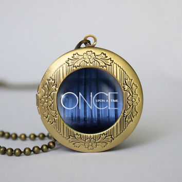 Once Upon A Time Themed pendant ,Once Upon A Time locket necklace, gift girlfriend boyfriend gift Bridesmaid Gift