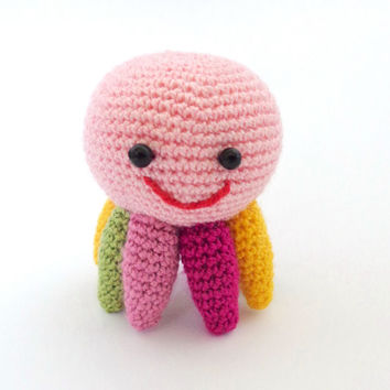Squidgy Toy- Crochet Octopus Toy with colorful tentacles Of Mice & Men