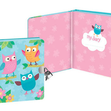 OWL LOCK & KEY DIARY