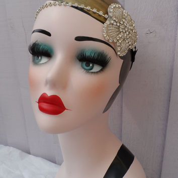 Roaring 20s Charleston Flapper 1920s Great Gatsby fancy dress hen party flower bridal wedding headband