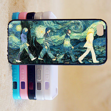 The beatles,starry night,,Custom Case, iPhone 4/4s/5/5s/5C, Samsung Galaxy S2/S3/S4/S5/Note 2/3, Htc One S/M7/M8, Moto G/X