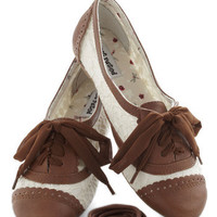 A Pretty Sight Flat in Almond | Mod Retro Vintage Flats | ModCloth.com