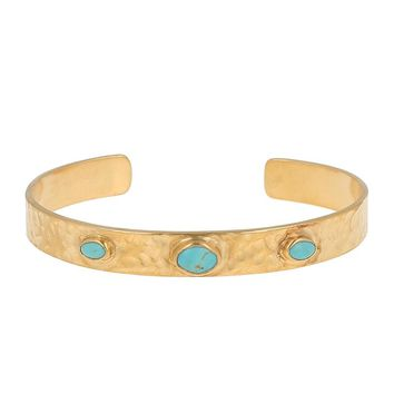 Chan Luu Turquoise Hammered Cuff