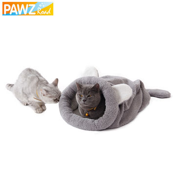 Cat Bed Cute Cat Sleeping Bag Soft Warm Cat House Pet Mats Puppy Cushion Small Dog Rabbit Bed Funny Pet Products 4 Color